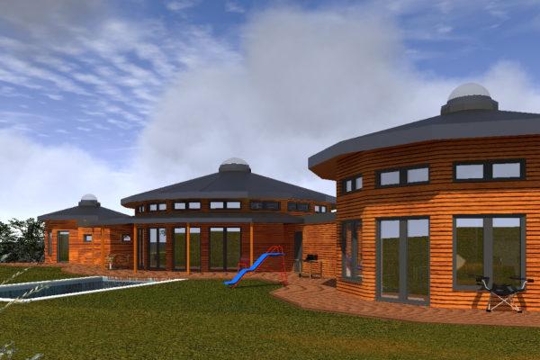 Soběstačné kruhové domy - kruhové dřevostavby na klíč